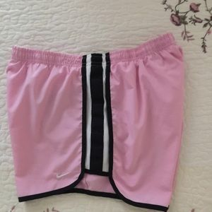 Nike Pink & Black Running Shorts S